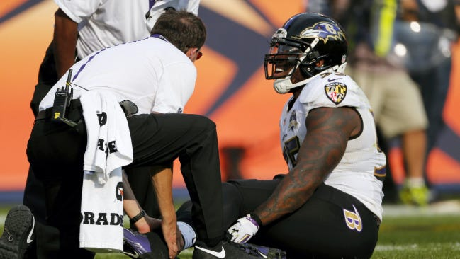 The loss of outside linebacker Terrell Suggs to a torn biceps injury is one of many issues facing the Baltimore Ravens, who have lost three straight games.