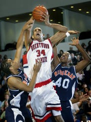 Brandan Wright (34) won four state titles at Brentwood Academy from 2003 to 2006
