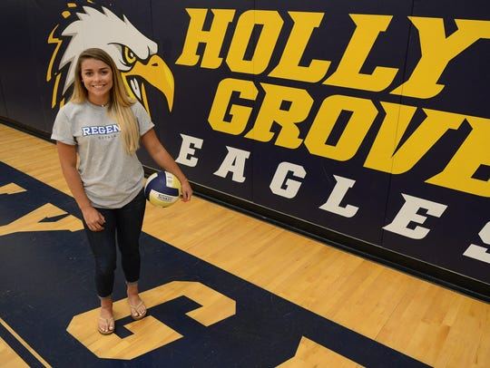 Makenzie Lambertson, a 2018 graduate of Holly Grove will be playing Division I Volleyball at Regent University in Virginia Beach, Va.