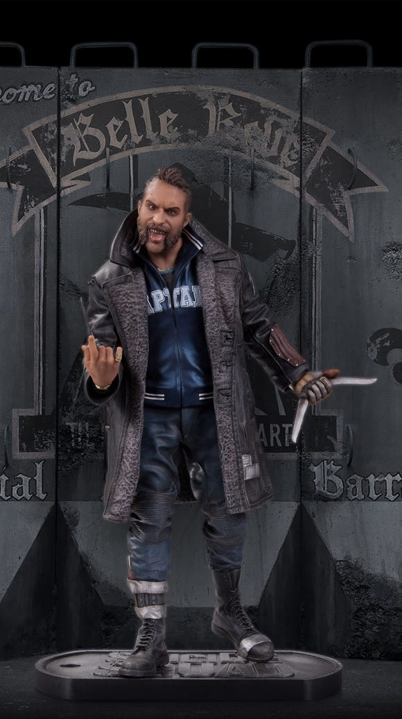 Captain Boomerang, sculpted by Adam Ross.