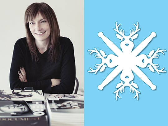 Kathy Davis — artist, designer and art director at Wiley Publishing — created this reindeer snowflake.