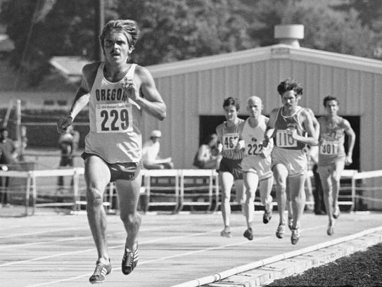 Oregon's Steve Prefontaine leaves his rivals behind
