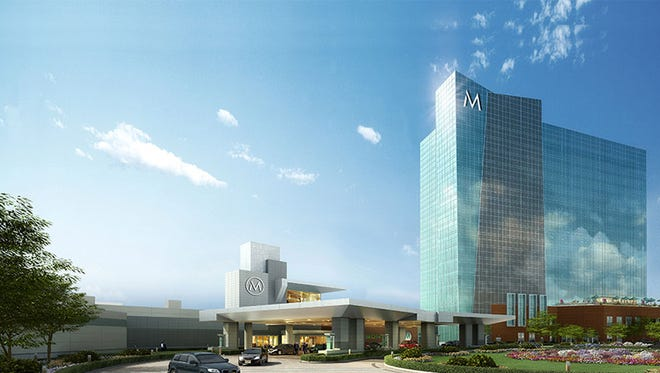 A rendering of the Montreign casino planned for Thompson, Sullivan County, in the Catskills.