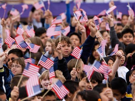 kids w flags