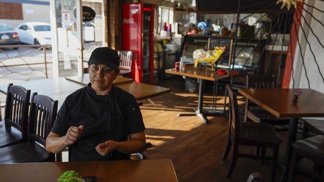 Chef Silvana Alaniz at El Rincon Restaurant in San Ysidro, California, on Sept. 3, 2020.