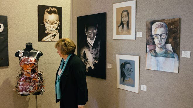 Art from middle and high school students across West Tennessee is showcased Sunday at the West Tennessee Regional Art Center in Humboldt.