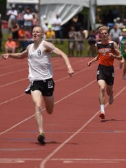 Heath's Taylor Hopkins finished second in the 1,600
