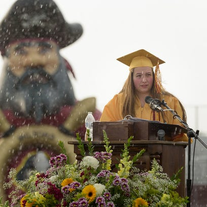 Morgan Christi Perry delivers the valedictorian address