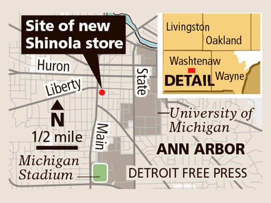Shinola has announced the site for their Ann Arbor store.