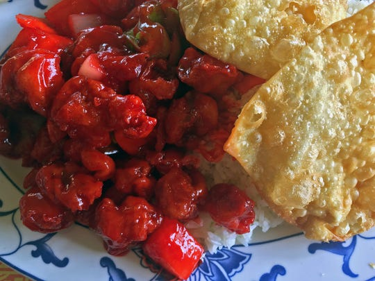 Bright Red Sweet and Sour Pork at Chef Lee's Mandarin House II