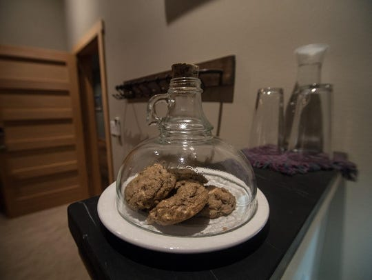 Freshly baked cookies await guests in their rooms at