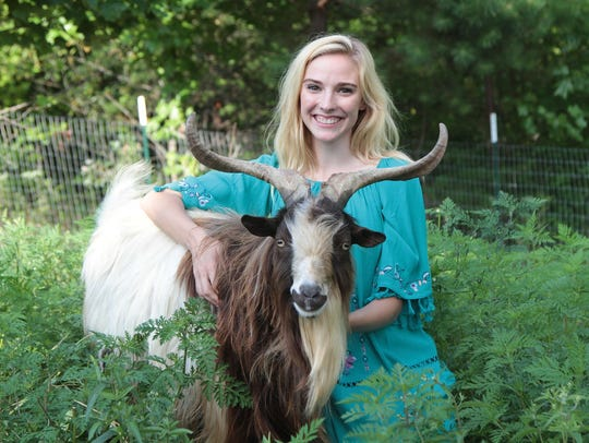 Taylon Breeden, a goat farmer in Leicester, was inspired to run for Buncombe County Board of Commissioners after the Asheville Women's March last year.