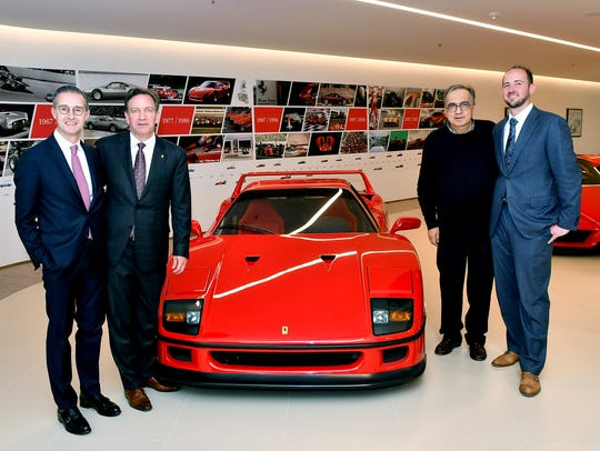 Matteo Torre, left, Jeff Cauley, Sergio Marchionne and Joe Cauley.