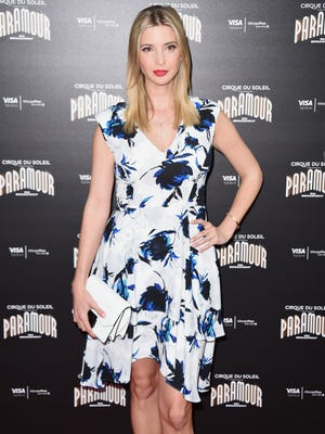 """File photo taken in 2016 shows Ivanka Trump attending Cirque Du Soleil's """"Paramour"""" Broadway opening night at the Lyric Theatre in New York City."""