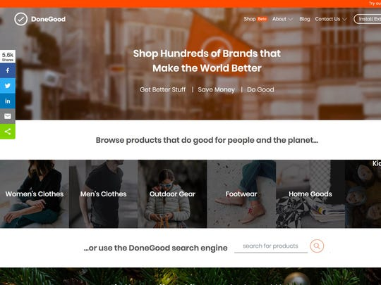 DoneGood, a website and app that aims to steer socially