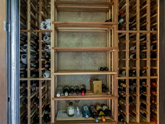 The home includes a climate controlled wine closet.