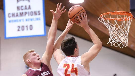 Matt Zona (24) and Bergen Catholic shared the Big North
