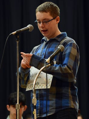 Joshua Mason, an eighth grader at Ridgeview Junior
