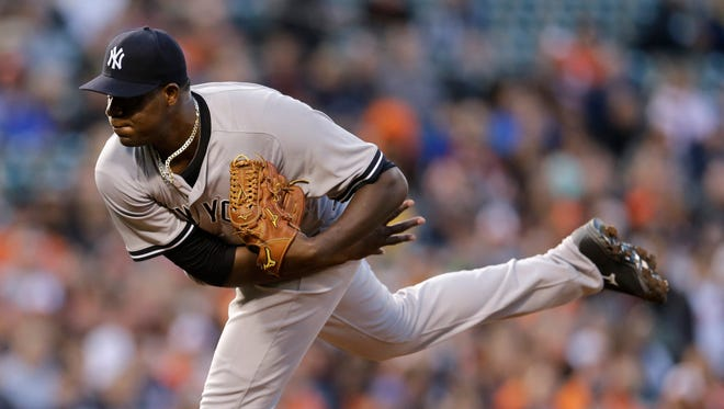 Michael Pineda got the win Monday despite allowing five runs on nine hits in 61/3 innings.