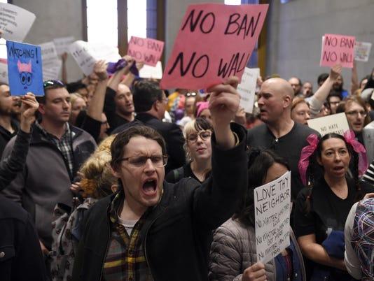 NAS-Trump protest