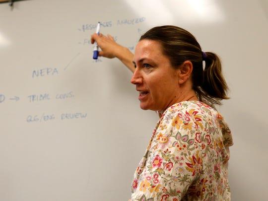 BLM supervisory natural resource specialist Sarah Scott