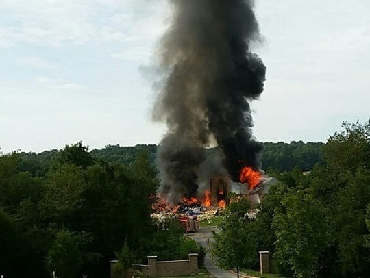 Reported fire in Hancock, Maryland on August 25, 2016
