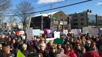 Hundreds of protesters gathered in White Plains to demand action to end gun violence.