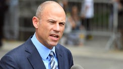 Attorney Michael Avenatti leaves the U.S. Courthouse