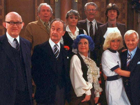 'Are You Being Served?' cast publicity photo. Mike