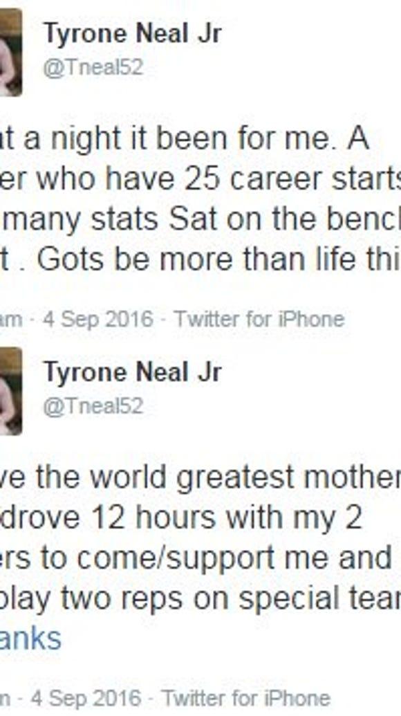 Auburn linebacker T.J. Neal expresses anger over lack