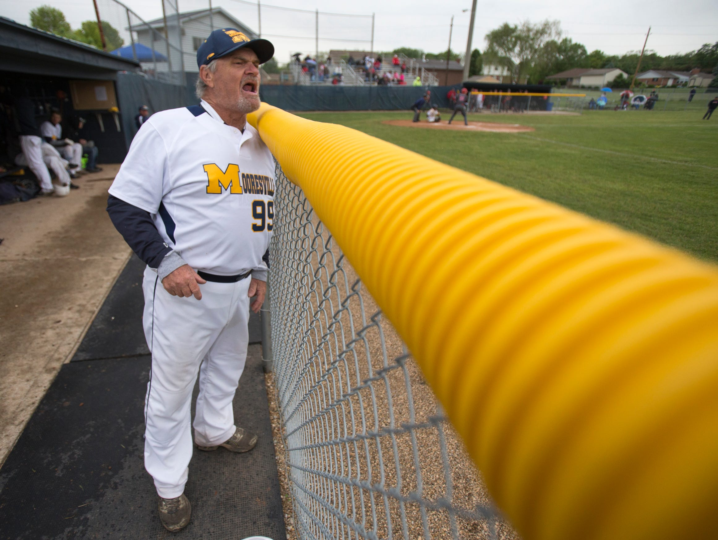 David Rose, brother of Pete Rose, is an assistant coach at Mooresville High School, Mooresville, May 20, 2015.