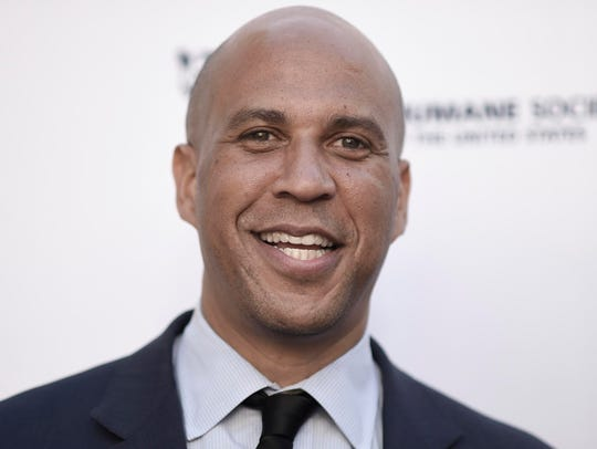Cory Booker file photo, April 2017