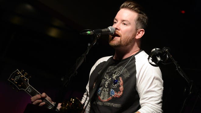 David Cook performs at the Soles4Souls charity concert on April 1 in Nashville.