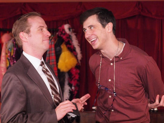 Kyle Branzel, right, shown in last year's production