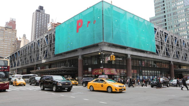 The exterior of the Port Authority Bus Terminal in New York.