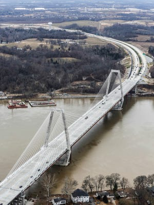 The new Lewis and Clark Bridge opened on Sunday.