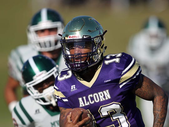Alcorn State quarterback Noah Johnson threw for 297 yards and three touchdowns in Saturday's win over Mississippi Valley State in Lorman, Mississippi.
