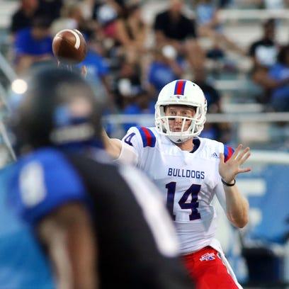 Louisiana Tech quarterback Ryan Higgins has thrown