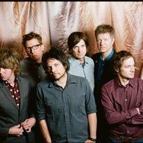 Wilco. Pictured (L-R): Pat Sansone, Mikael Jorgensen, Jeff Tweedy, Glenn Kotche, Nels Cline, John Stirratt.