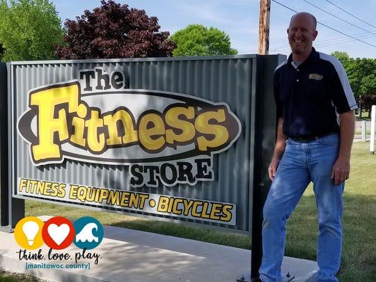 John Brunner, owner of The Fitness Store in Manitowoc.