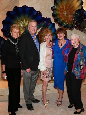 (L-R) Donna MacMillan, Richard Grund, Barbara Rogers, Victory Grund, and Charlotte Champerlin.