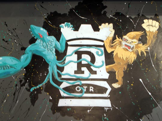 The logo of Rook,  a board game parlor/bar/restaurant