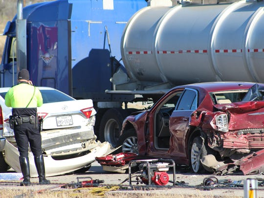 Two children were killed in this chain-reaction crash on Interstate 20 in Abilene in March 2018.