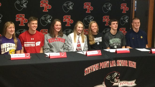 Seven SPASH athletes were part of the signing day celebration Wednesday.