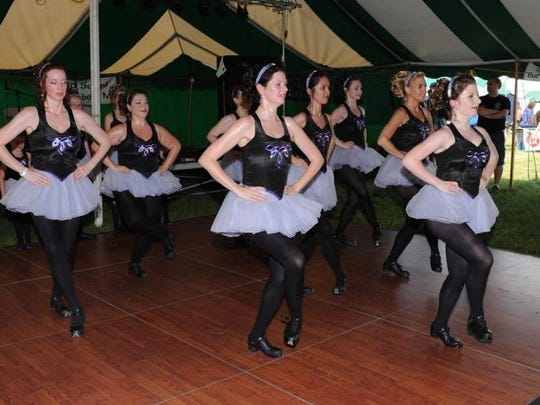 The Motor City Irish Dance Company dancers perform during a previous Irish Fest.
