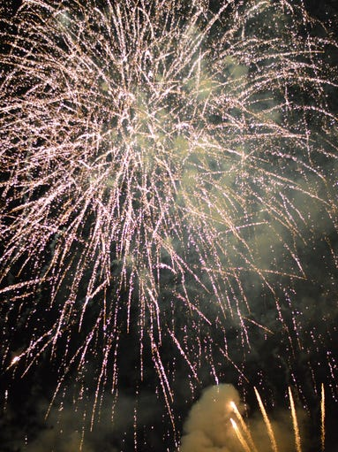 UCF's first-ever homecoming fireworks show.