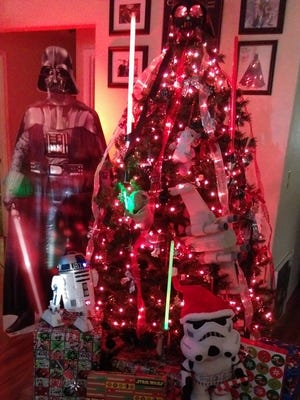 Darth Tree is the winner of this year's contest. It was created by Jason and Bobbie Doubrava.