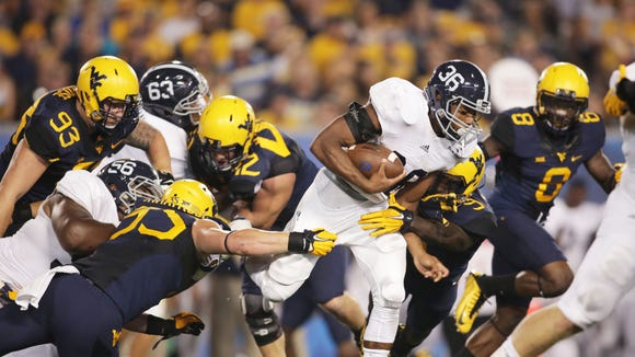 Breida (36) finished just shy of his second-straight Sun Belt rushing title last season after leading the conference in that category in 2014.