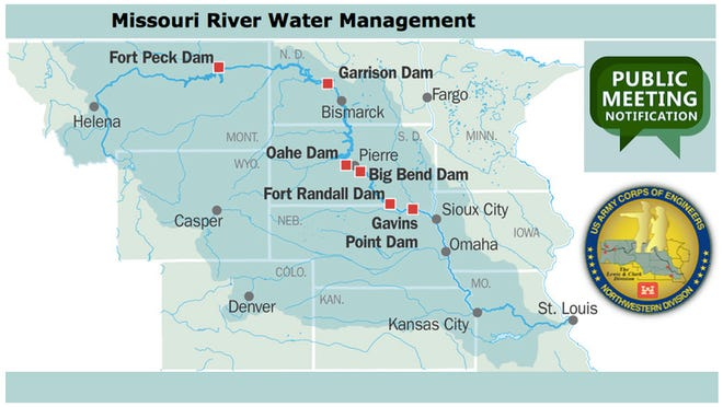 The U.S. Army Corps of Engineers' Missouri River Water Management Division has released four videos of presentations that would normally be given at public meetings held throughout the Missouri River Basin. Call-in question-and-answer sessions are scheduled the week of April 20 for the public .