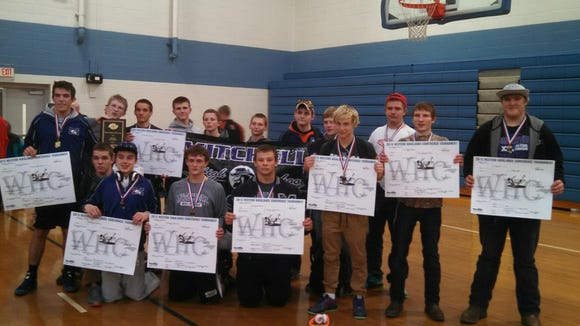 Mitchell's wrestling team won Friday's Western Highlands Conference tournament at Polk County.